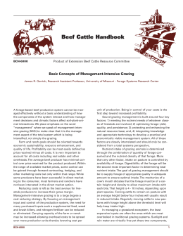 Basic Concepts of Management-Intensive Grazing