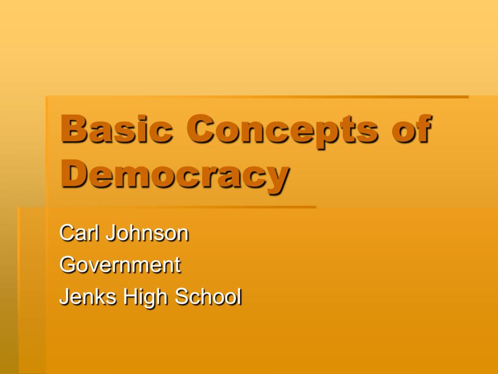 concept of democracy pdf