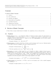 Review of Basic Concepts - University of Rochester Mathematics