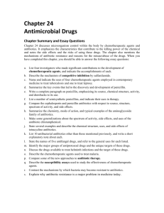 Chapter 24: Antimicrobial Drugs