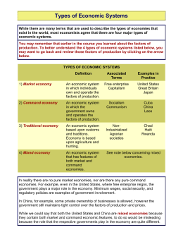 Types of Economic Systems.doc