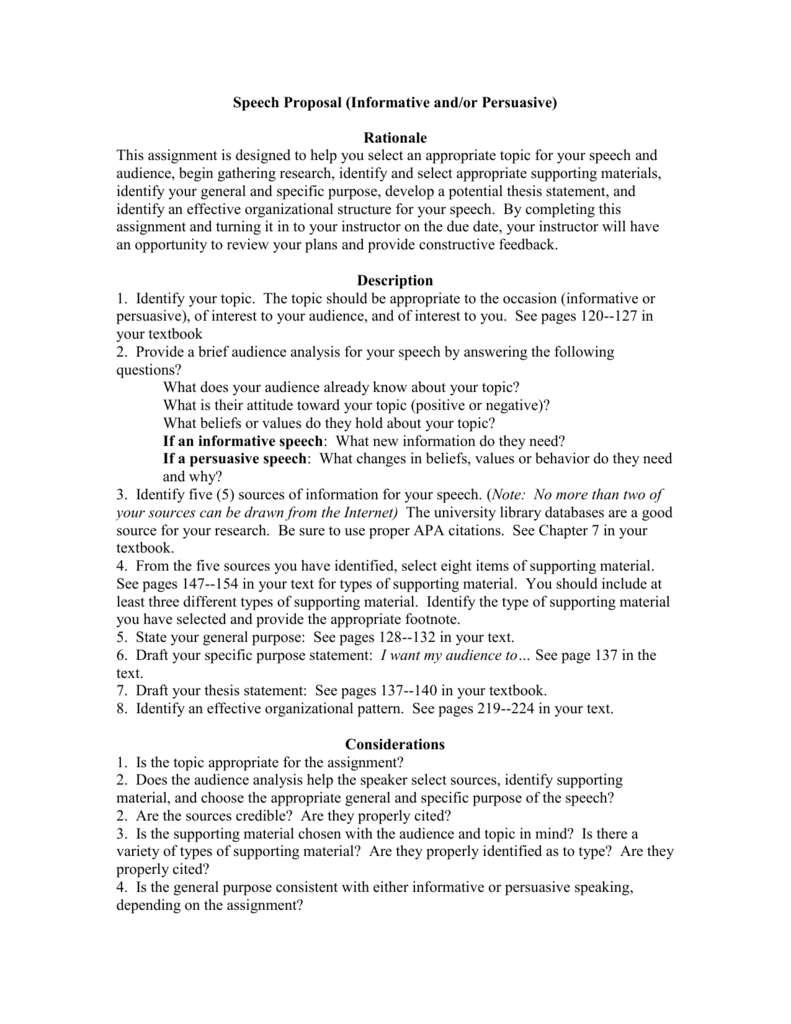 help with my speech thesis proposal