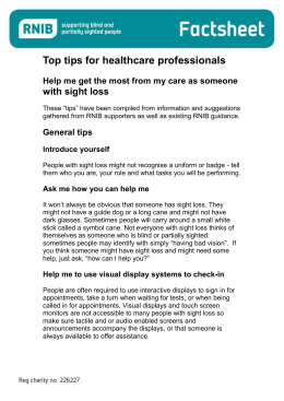 Top tips for Healthcare professionals