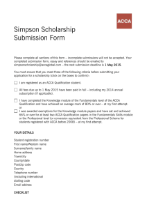 Scholarship Submission Form