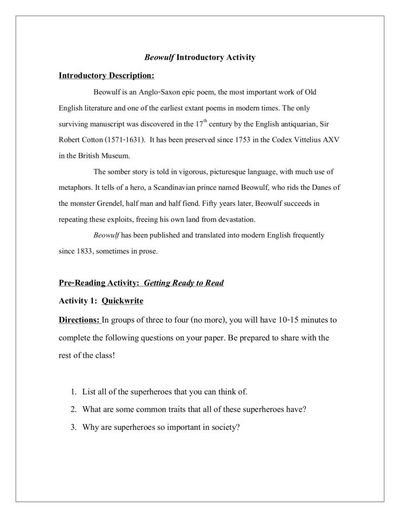 beowulf pdf