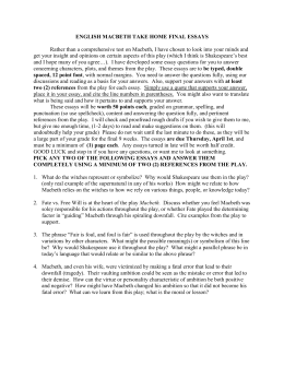 engui introduction to scholarly format and secondary advanced english macbeth take home final essays - Argumentative Essay Sample Examples