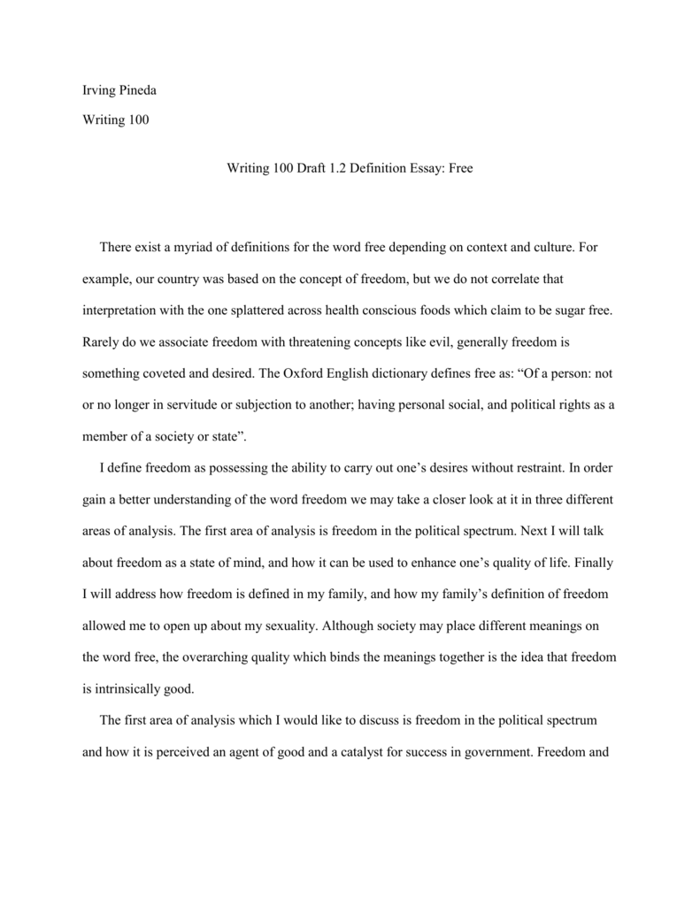 good health definition essay