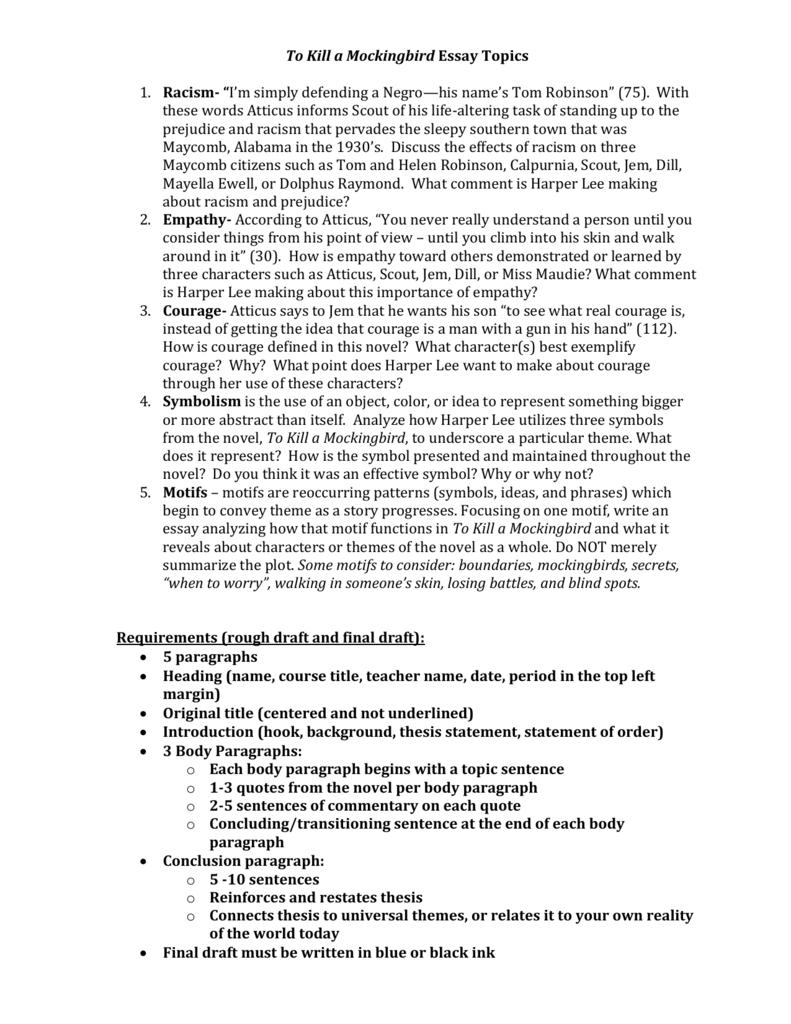 mockingbird essay