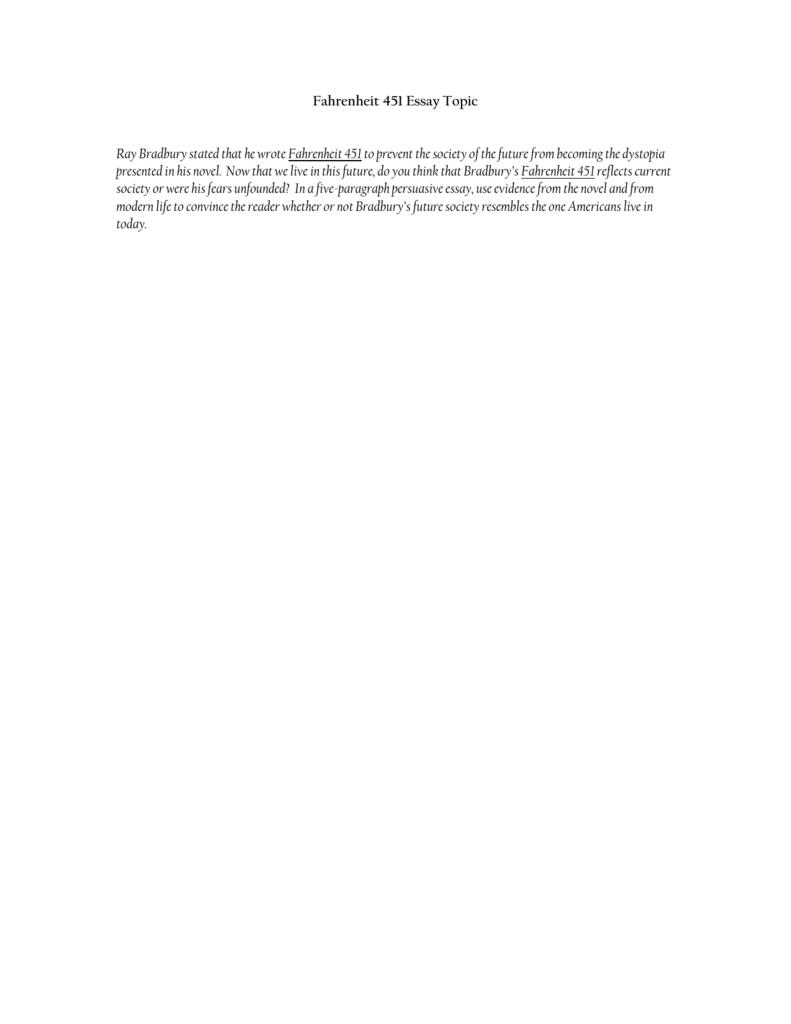 Fahrenheit  Essay Topic Aebcfdccfdcabpng