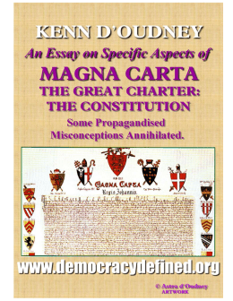 Specific Aspects of Magna Carta - The Democracy Defined Campaign
