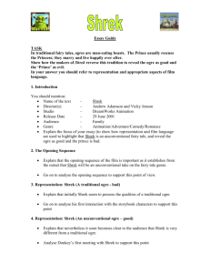 Shrek Essay Plan.doc