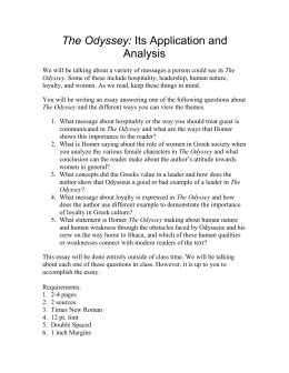 essay prompts the odyssey the odyssey its application and analysis