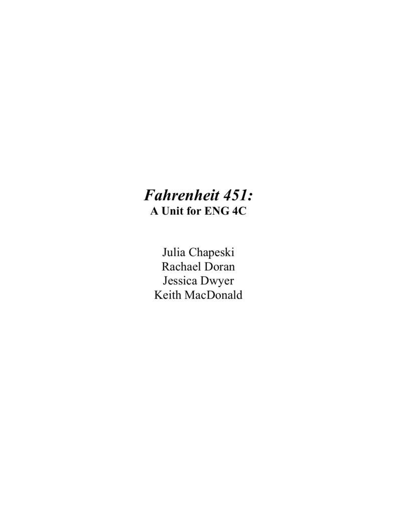 Quotes From Fahrenheit 451 Unit Title Fahrenheit 451
