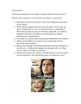 Discussion Questions for What`s Eating Gilbert Grape