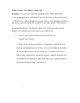 "unit test th grade study guide key in the fall of the house of in nathaniel hawthorne`s ""the minister`s black veil"" hawthorne"