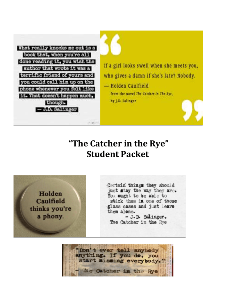 loneliness in the catcher in the rye