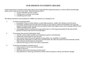 Mission Statement - Holy Ghost RC Primary School