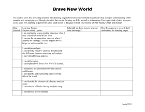 Brave New World Learning Targets