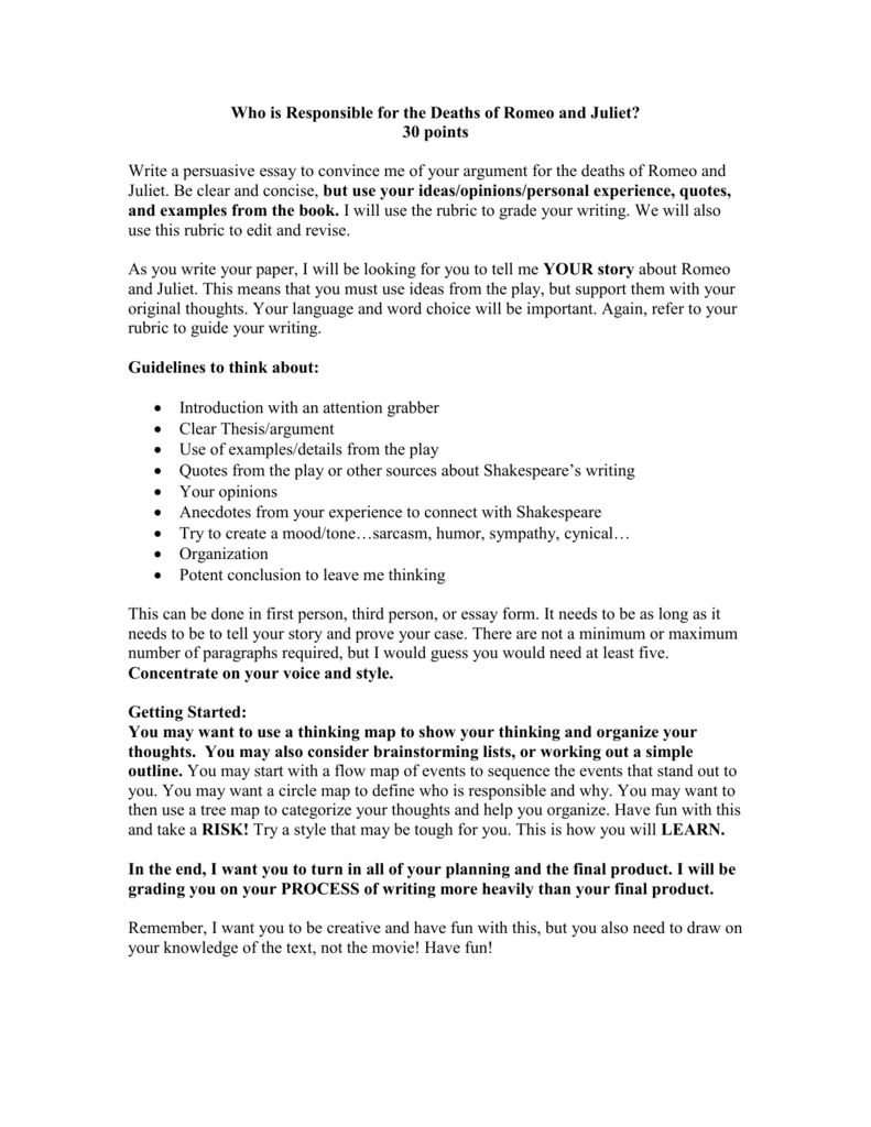 Essays On School Uniforms  Example Interview Essay also Thesis Statement Example For Essays Who Is Responsible For The Deaths Of Romeo And Juliet Hotel Rwanda Essay