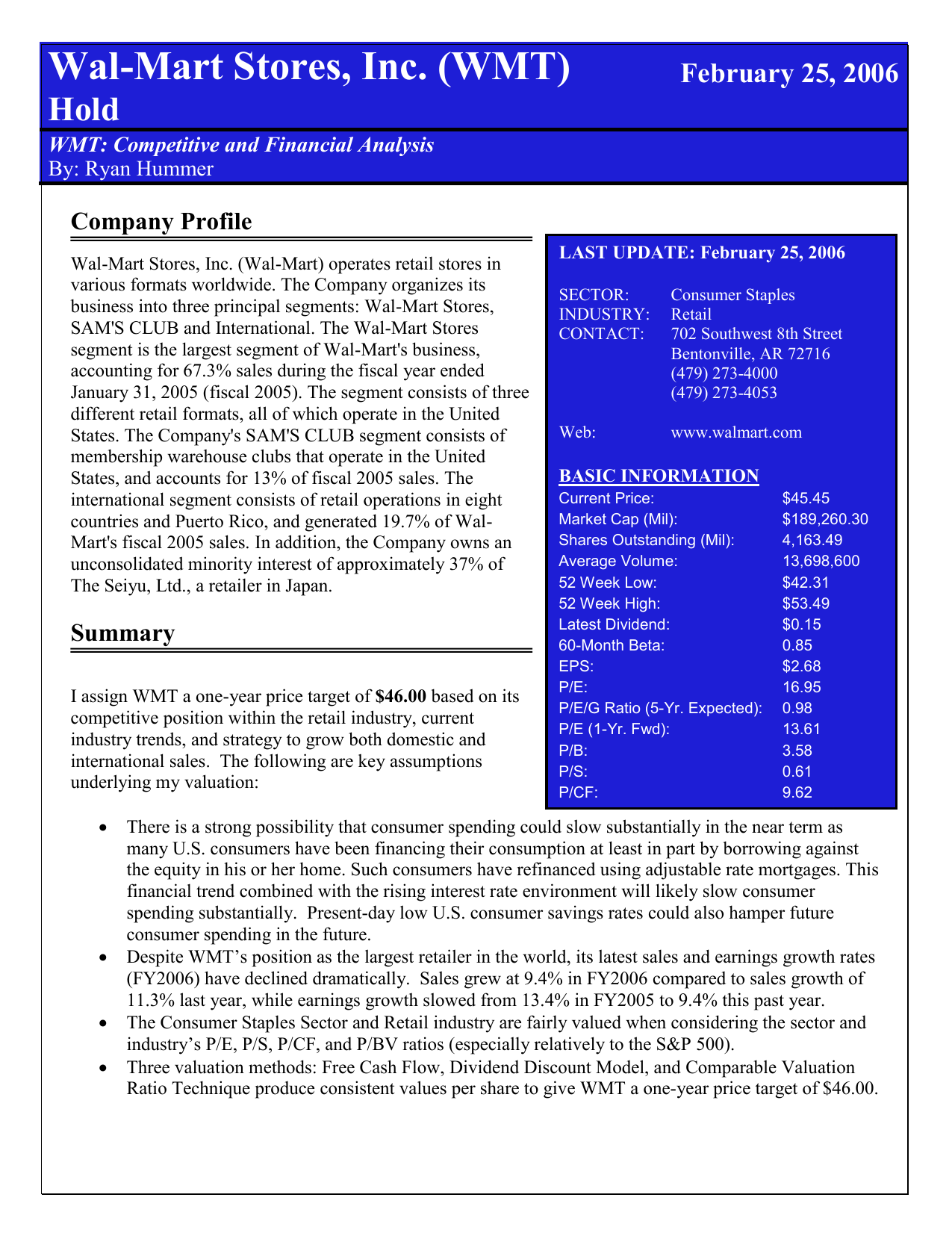 Wal-Mart Stores, Inc - Fisher College of Business