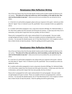Renaissance Man writing piece.doc