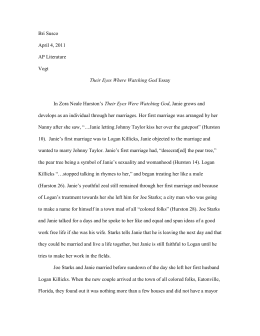 Health And Fitness Essays Their Eyes Were Watching God Essaydoc How To Make A Thesis Statement For An Essay also Essay On My Family In English Zora Neale Hurstons Their Eyes Were Watching God Chapter   Orderbird Business Plan