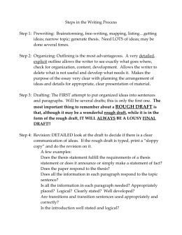 Speech 1 Demonstration Outline Checklist Rough Draft Due