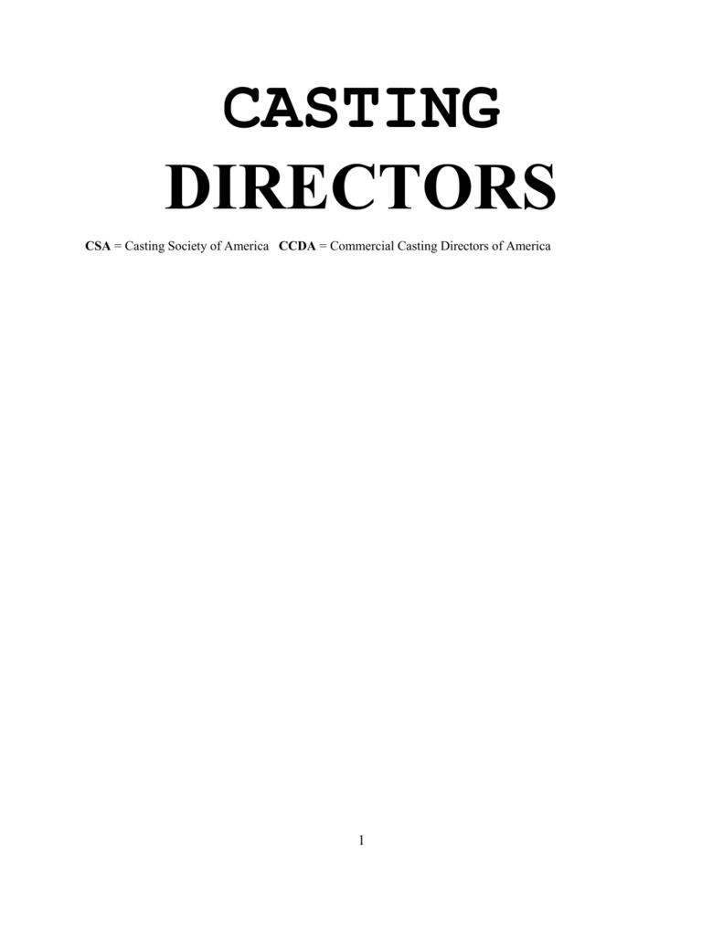 CASTING DIRECTORS NO BOXES.doc