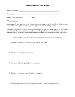 how to write an observation report for classroom