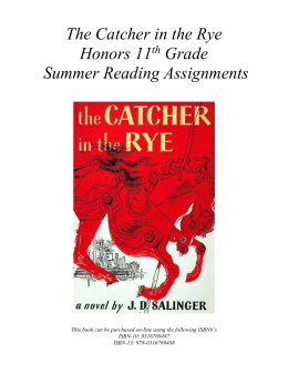 catcher in the rye study The catcher in the rye by jd salinger (book summary and review) - minute book report - duration: 2:18 minute book reports 19,919 views.