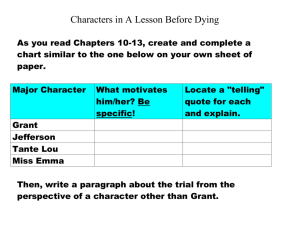 Characters in A Lesson Before Dying.doc