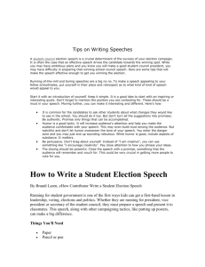 Student Council Essay Examples Middle School