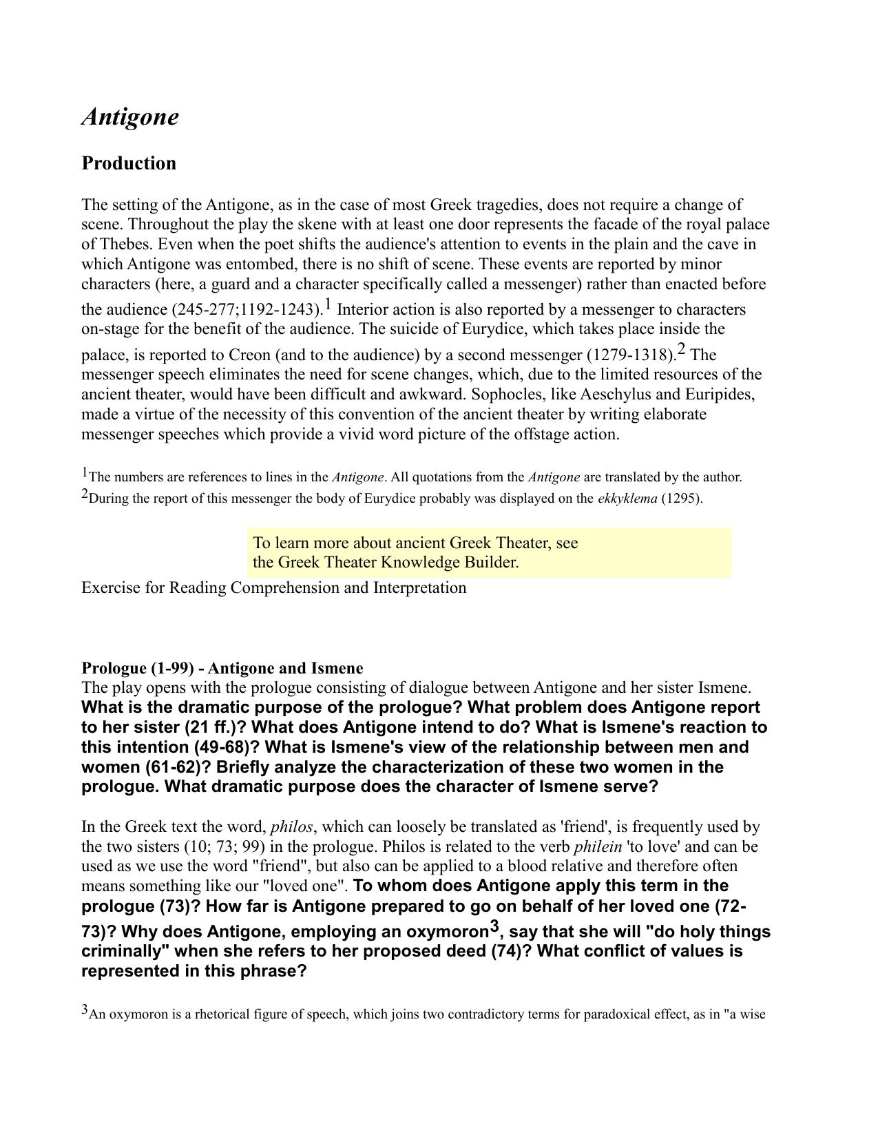 antigone character analysis essay