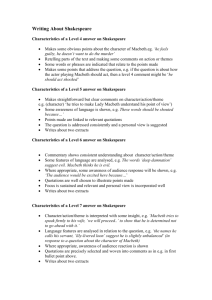 Characteristics of a Level 4 answer on Shakespeare