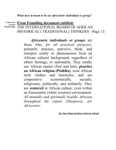 What does it mean to be an Africentric individual or group
