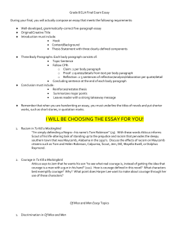 Sample Synthesis Essays  Essay Vs Research Paper also Health Needs Assessment Essay To Kill A Mockingbird Essay Topics An Essay About Health