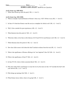 Romeo and Juliet Act II Review Questions