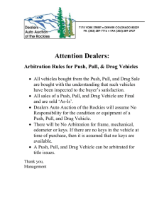 Fax Transmittal - Dealers Auto Auction of the Rockies