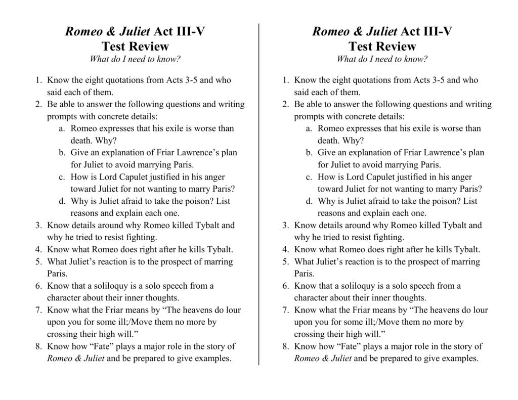 romeo and juliet narrative essay