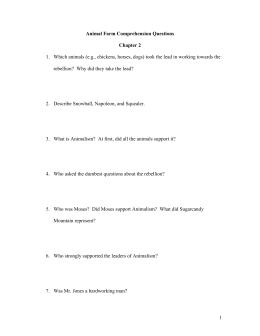 Animal Farm Comprehension Questions