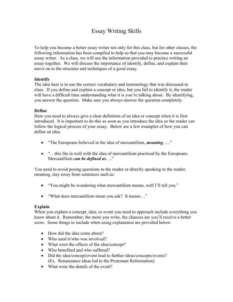 Essay about the importance of writing skills