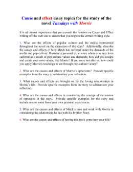 tuesdays morrie final essay assignment cause and effect essay topics for the study of the novel tuesdays