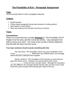The Possibility of Evil - paragraph assignment.doc