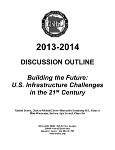 2013-2014 DISCUSSION OUTLINE Building the Future: U.S.