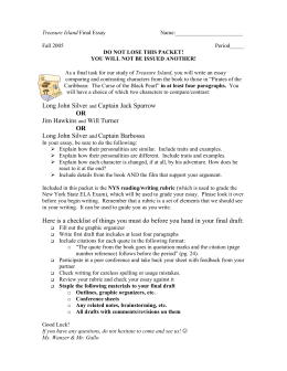 monster essay rubric treasure island final essay