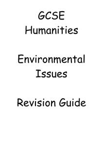 GCSE Humanities Revision Guide Environmental Issues