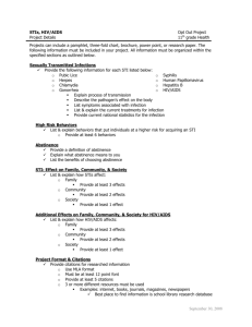 HIV/AIDS and STD/STI Opt Out Assignment