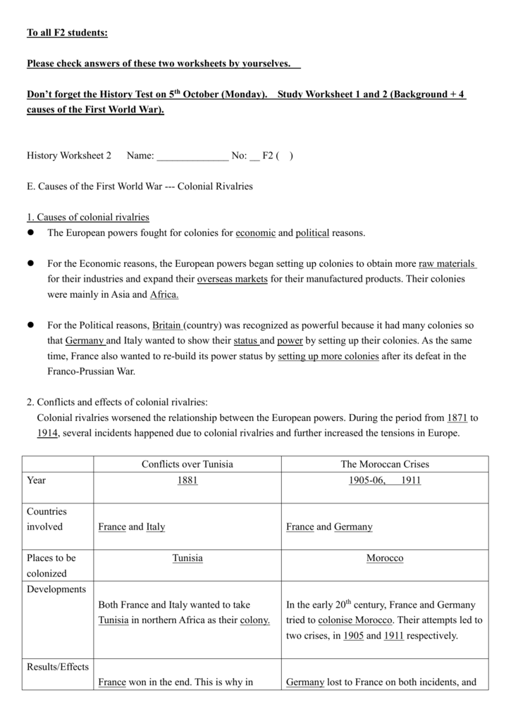 History Worksheet 2 (With Answers).doc