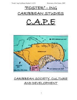 CARIBBEAN STUDIES finished product.doc