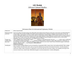 African Cultural Studies - Arch Ford Education Service Cooperative